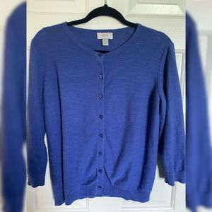 LOFT 3/4 Sleeve Slub Knit Cardigan